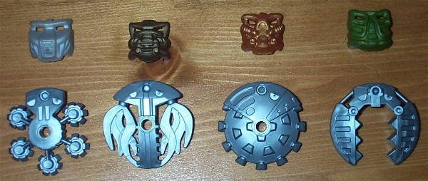 Bohrok Kal Tools and Krana